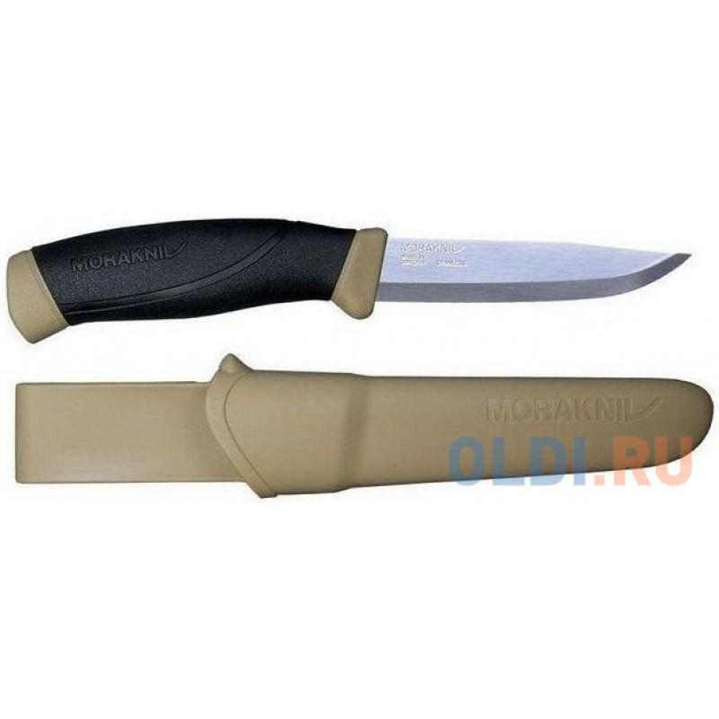 Нож Morakniv Companion (13166) стальной лезв.104мм черный/бежевый