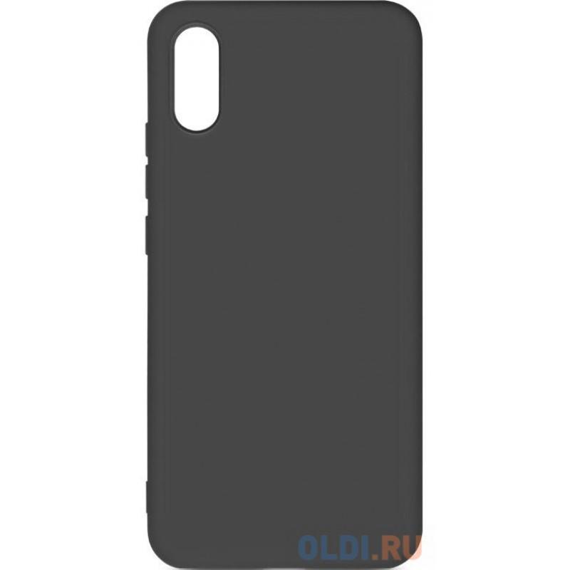 Силиконовый чехол с микрофиброй для Xiaomi Redmi 9A DF xiOriginal-13 (black)