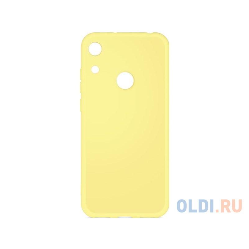 Силиконовый чехол с микрофиброй для Huawei Honor 8A/8A Pro DF hwOriginal-03 (yellow)