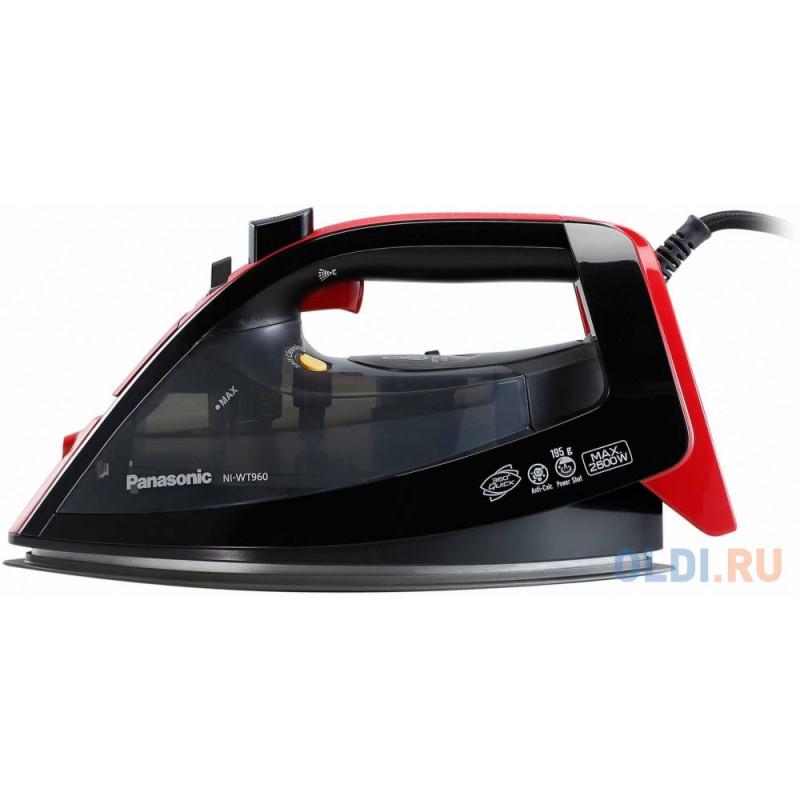 Утюг Panasonic NI-WT960RTW 2600Вт чёрный красный
