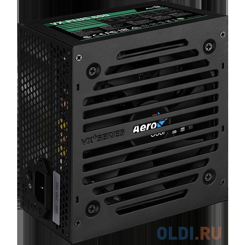Блок питания Aerocool 650W Retail VX PLUS 650 , ATX v2.3, fan 12cm, 2x PCI-E [6+2-Pin], 4x SATA, 3x MOLEX, 1x FDD