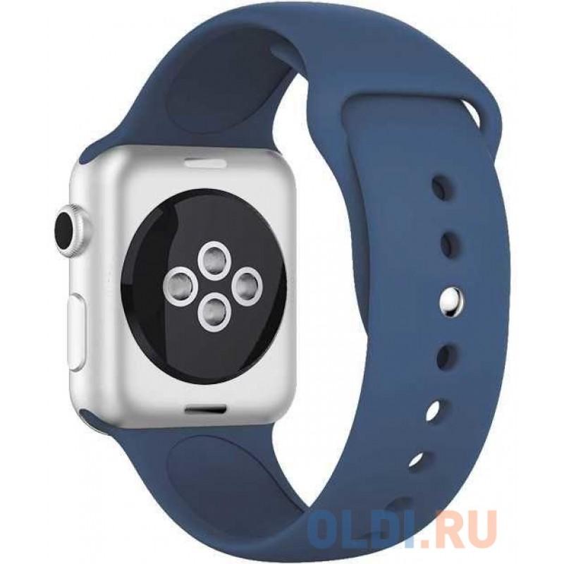 Ремешок силиконовый для Apple Watch (38-40мм) DF iClassicband-01 (blue)