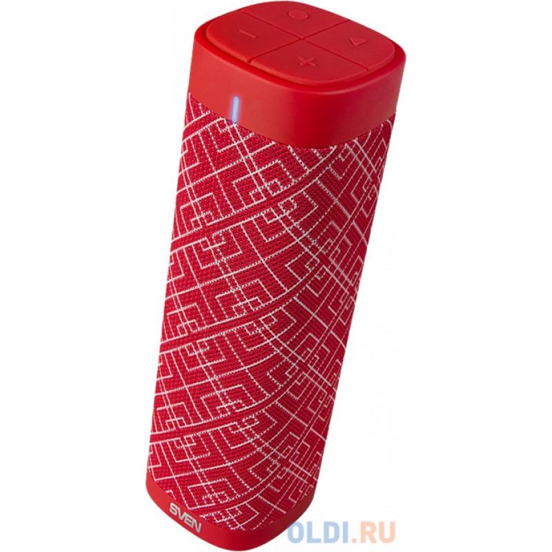 SVEN PS-115, красный, акустическая система (2.0, мощность 2x5 Вт (RMS), TWS, Bluetooth, FM, USB, microSD, встроенный аккумулятор)