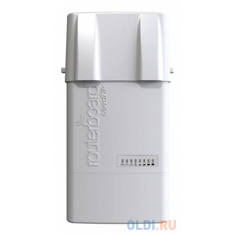 Точка доступа MikroTik RB912UAG-5HPnD-OUT BaseBox 5 with 600Mhz Atheros CPU, 64MB RAM, 1xGigabit LAN, USB, miniPCle, built-in 5Ghz 802.11a/n 2x2 two c