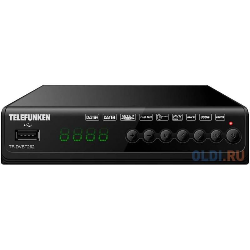 Ресивер DVB-T2 Telefunken TF-DVBT262 черный