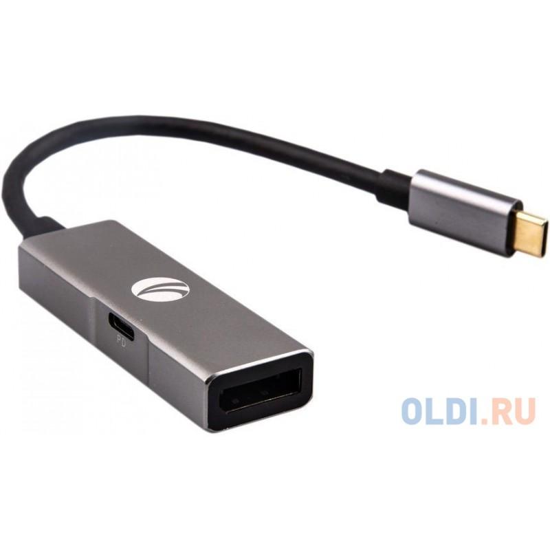 Переходник DisplayPort 0.2м VCOM Telecom CU453 круглый серый