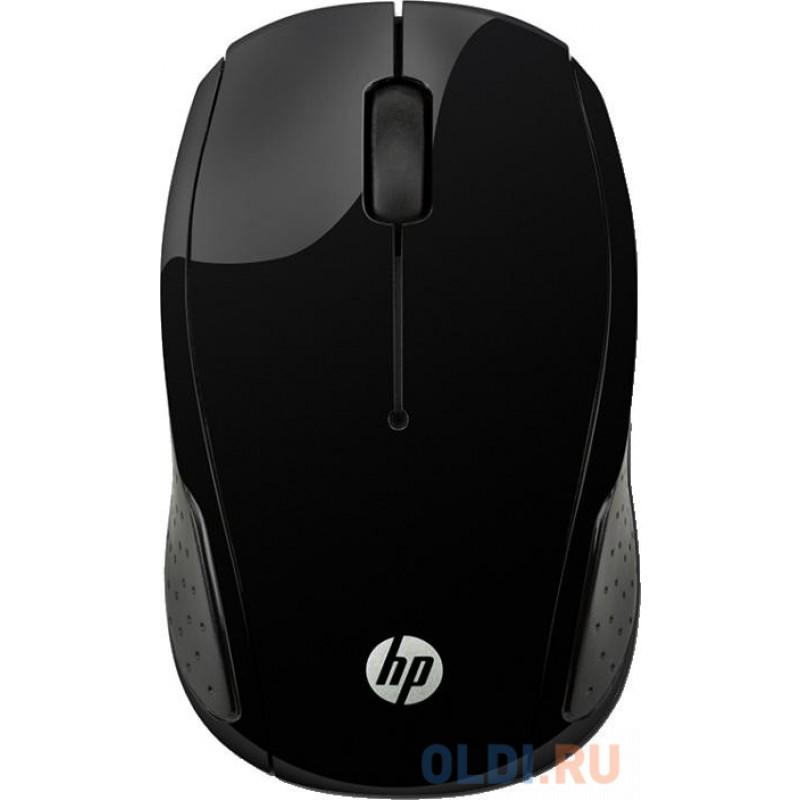 Мышь HP Wireless 220 черный оптическая (1200dpi) беспроводная USB для ноутбука (2but)