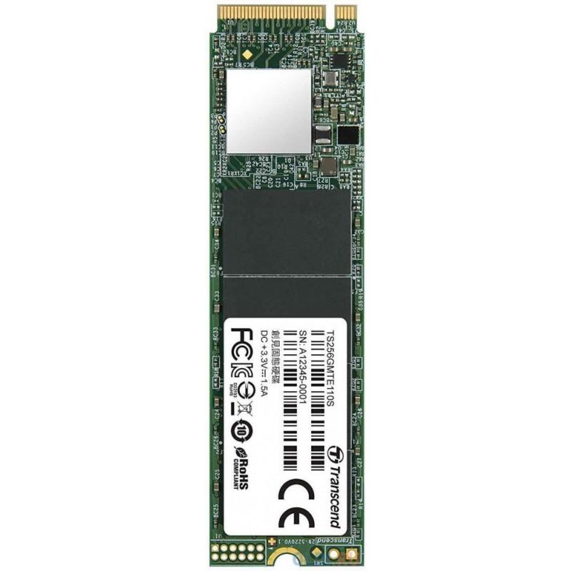 Твердотельный накопитель SSD M.2 256 Gb Transcend TS256GMTE110S Read 1600Mb/s Write 800Mb/s 3D NAND TLC