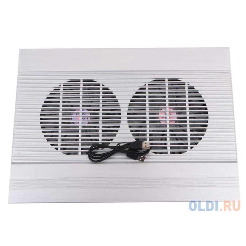 Теплоотводящая подставка под ноутбук DeepCool N8 SILVER (до 17