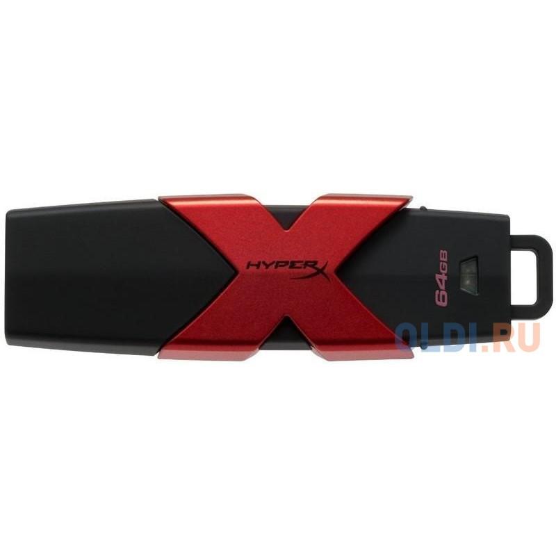 Флешка USB 64Gb Kingston HX Savage HXS3/64GB черно-красный