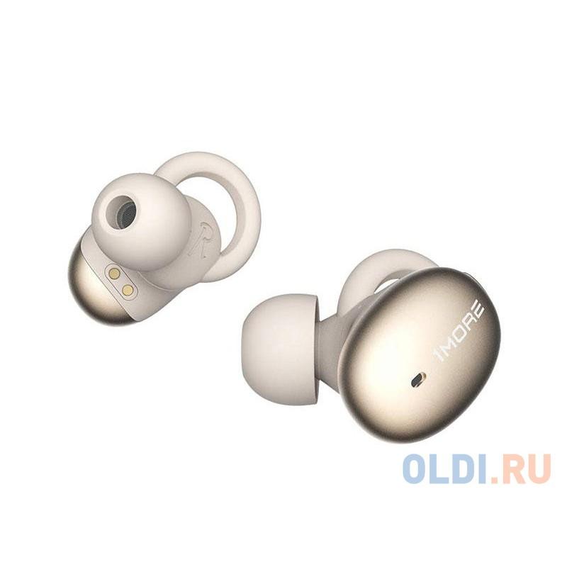 Наушники TWS 1MORE E1026BT-I-Gold вставные (затычки) с микрофоном,20 - 20000 Гц,98 дБ,16 Ом,BT 4.2,A2DP, AVRCP, Hands free, Headset