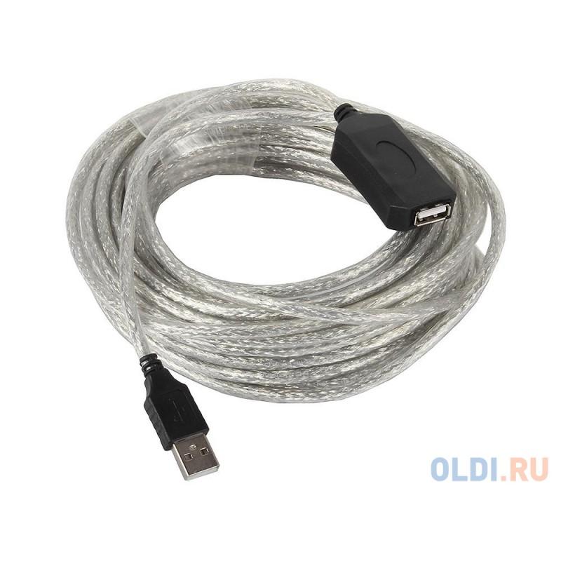 Кабель-адаптер USB2.0-repeater, удлинительный активный <Am--Af 10м VCOM <VUS7049-10M