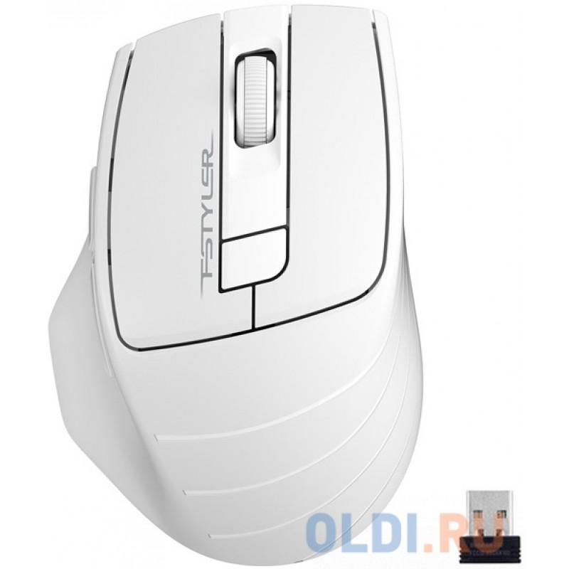 Мышь беспроводная A4TECH Fstyler FG30 серый белый USB
