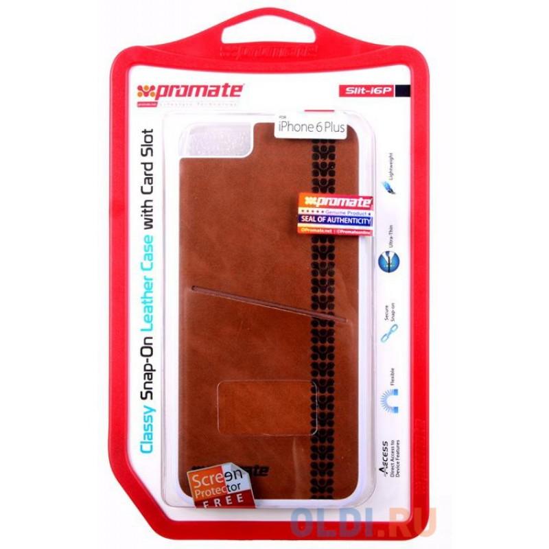Накладка для iPhone 6 Plus Promate Slit-i6P коричневый