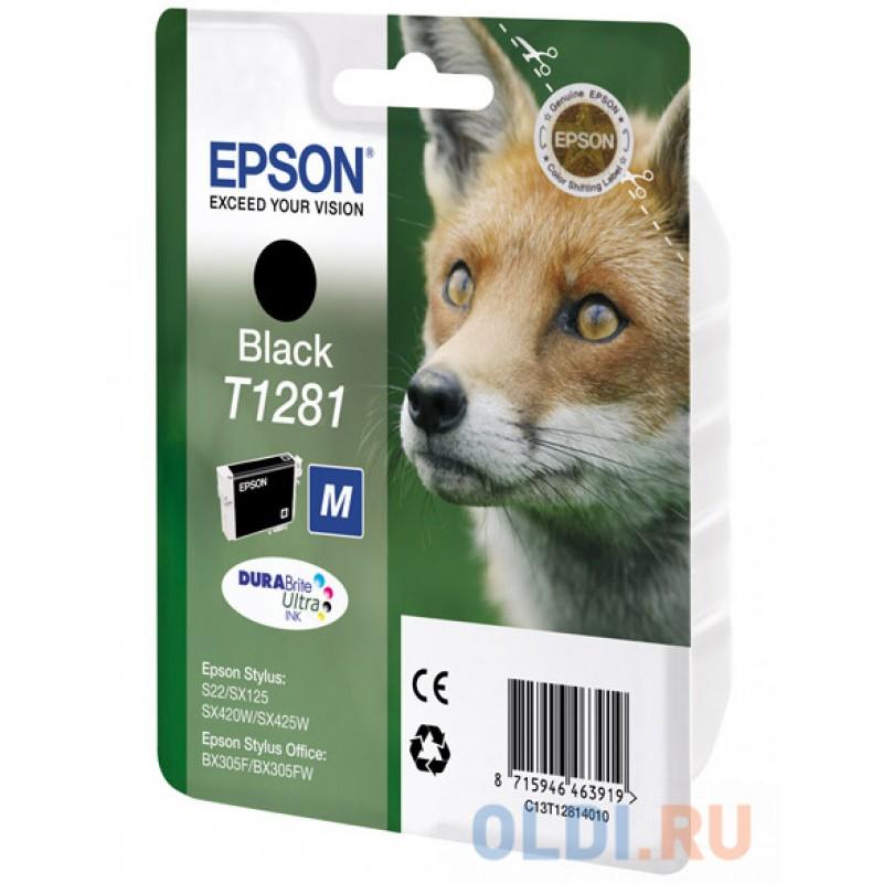 Картридж Epson C13T12814010/4011/4012 для Stylus S22/SX125/SX420W/SX425W/Office BX305F/305FW черный