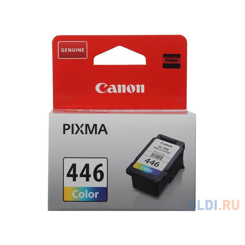 Картридж Canon CL-446 для PIXMA MG2440/2540/2940/MX494/iP2840/TS304. Цветной. 180 страниц.