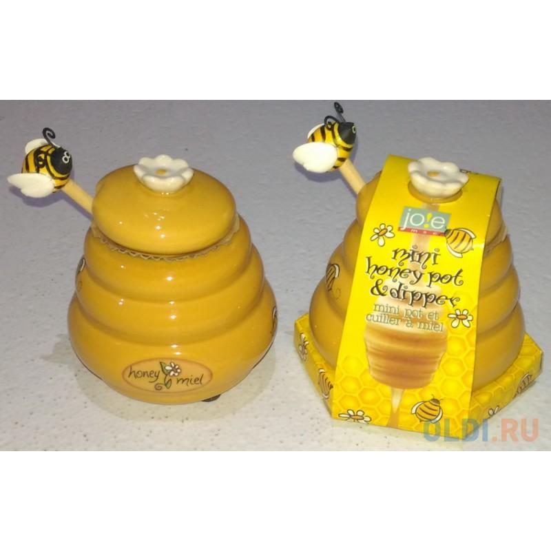 Банка для меда с ложкой