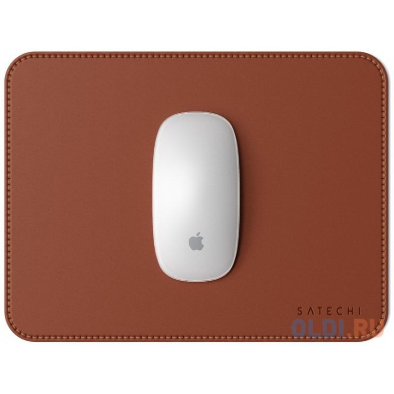 Коврик Satechi Eco Leather Mouse Pad для компьютерной мыши. Материал эко-кожа (искусственная кожа. Размер 25 x 19 см. Цвет коричневый.