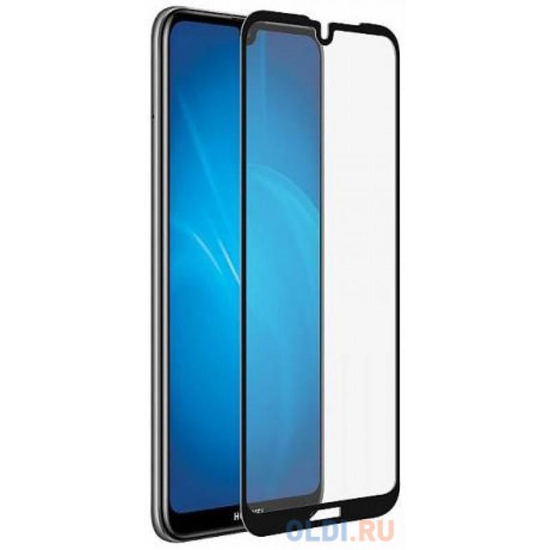 Закаленное стекло с цветной рамкой (fullscreen) для Huawei Y5 (2019)/Honor 8S DF hwColor-91 (black)