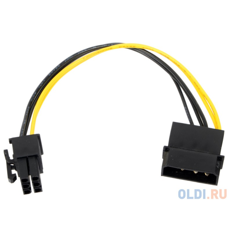 Переходник питания для PCI-Ex видеокарт Molex 4pin (M) - 6pin ORIENT C511