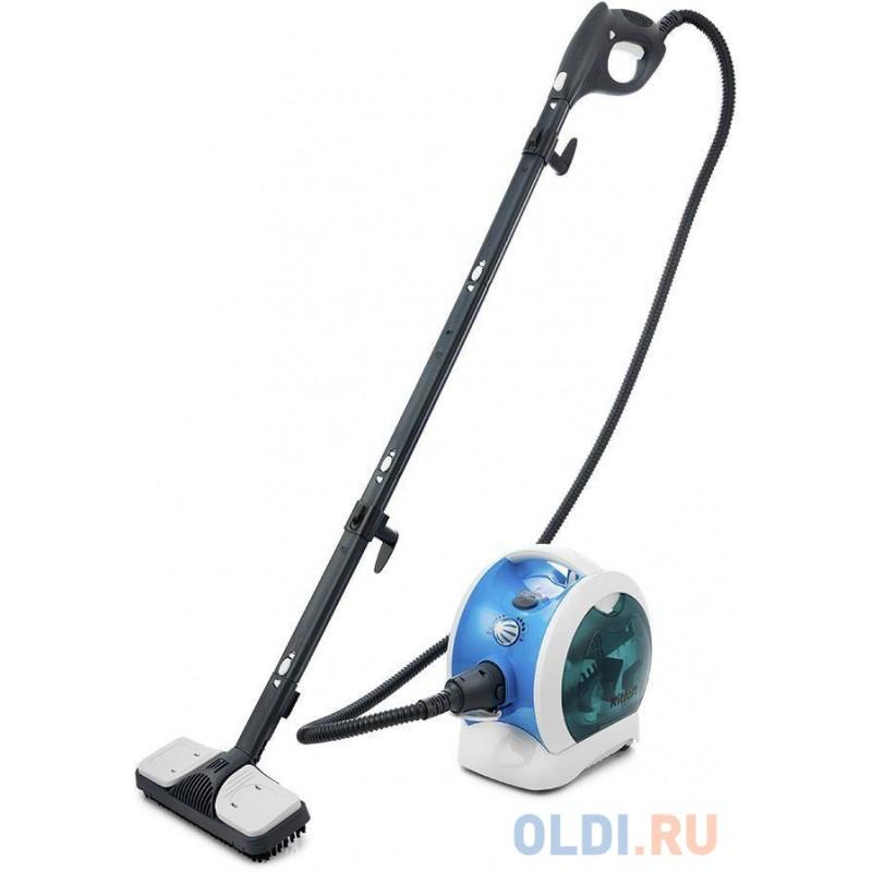 Пароочиститель напольный Kitfort KT-952 1500Вт белый/голубой