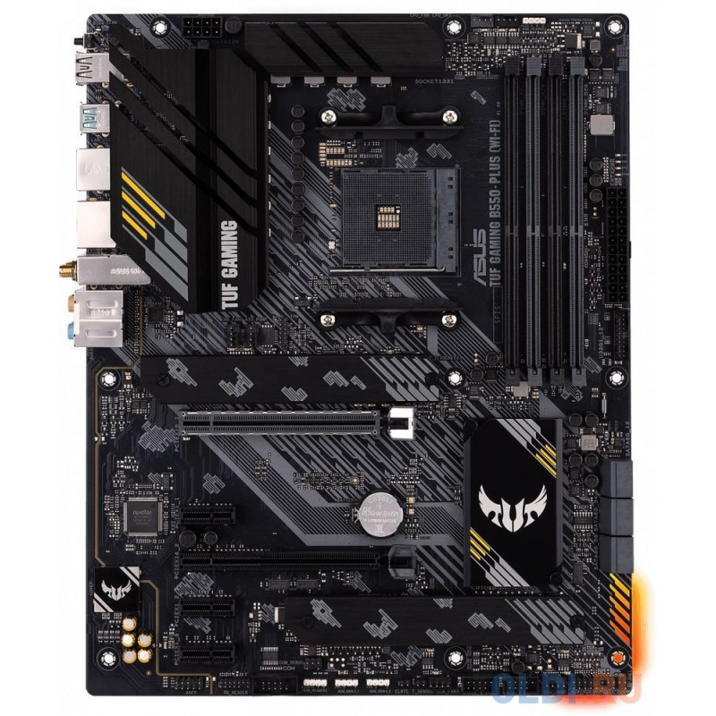 Материнская плата ASUS TUF GAMING B550-PLUS (WI-FI) Socket AM4 AMD B550 4xDDR4 2xPCI-E 16x 3xPCI-E 1x 6 ATX Retail