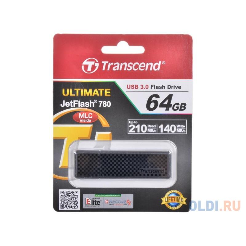 Внешний накопитель 64GB USB Drive <USB 3.0 Transcend 780 (TS64GJF780)