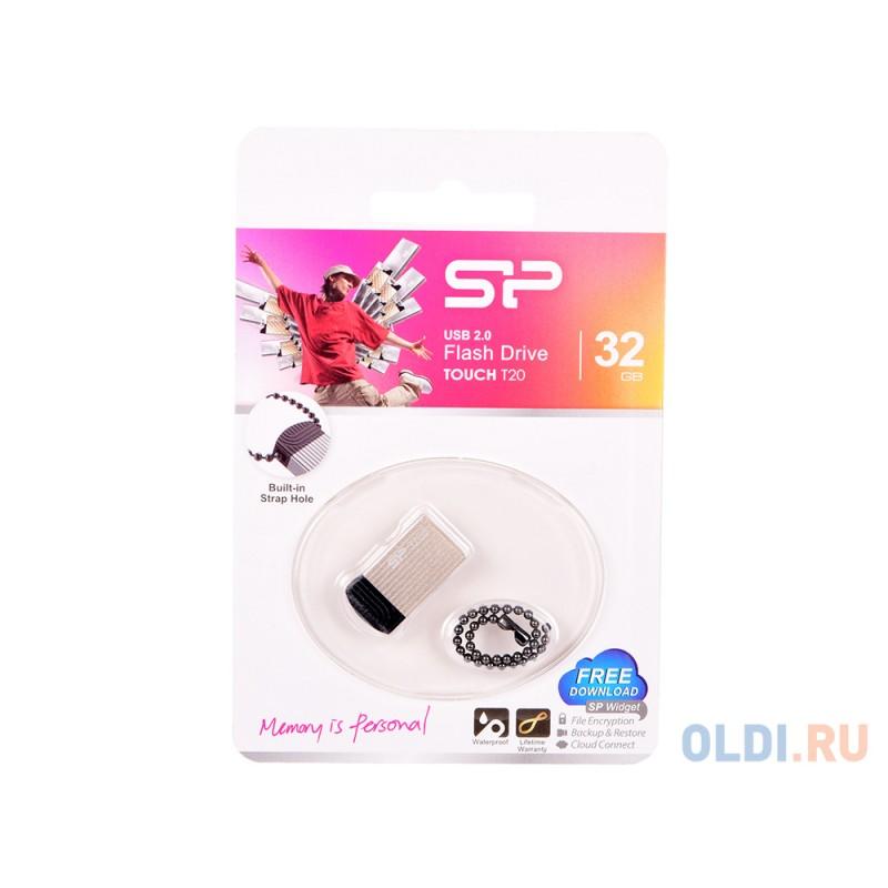 Внешний накопитель 32GB USB Drive <USB 2.0 Silicon Power Touch T20 SP032GBUF2T20V1C золотистый