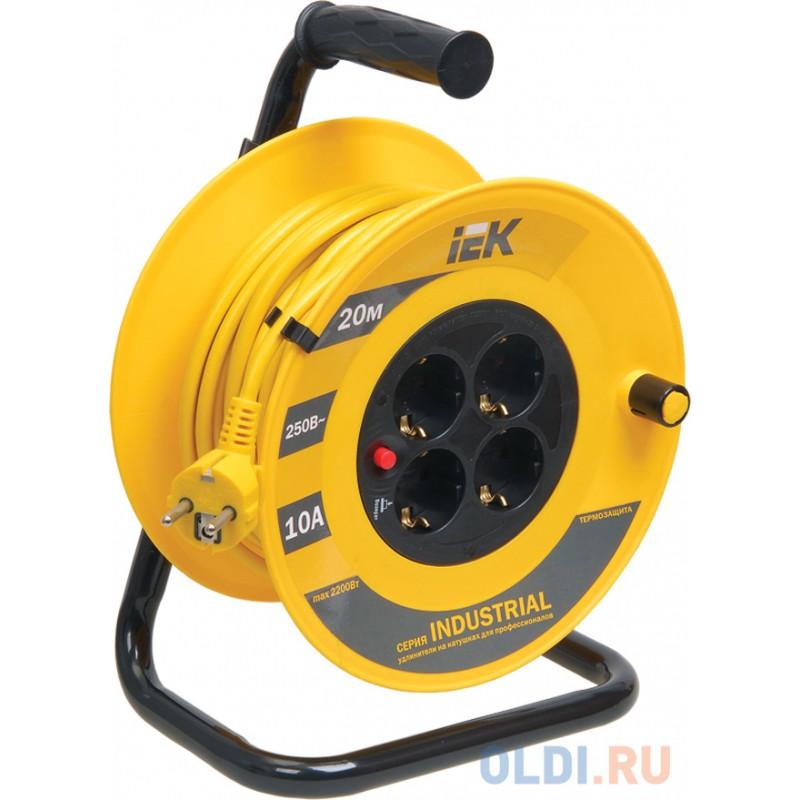 Удлинитель IEK WKP14-10-04-20 4 розетки 20 м