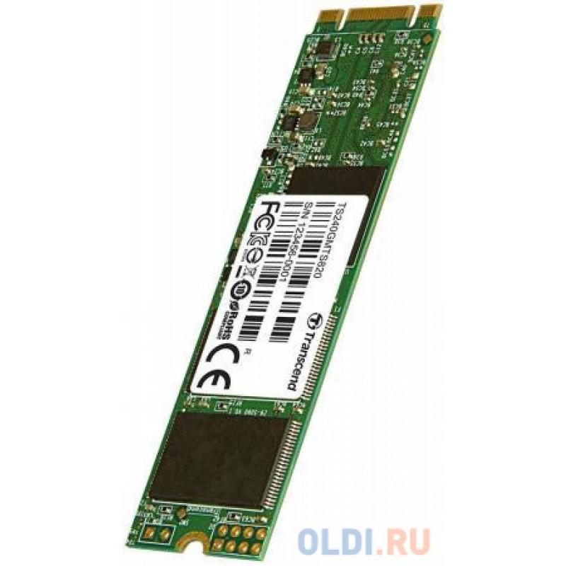 Твердотельный накопитель SSD M.2 240Gb Transcend MTS820 Read 560Mb/s Write 500mb/s SATAIII TS240GMTS