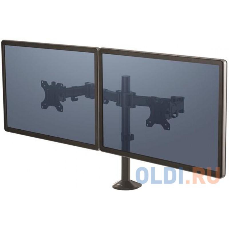 Кронштейн для 2 мониторов Fellowes Reflex Series™, регул-ка высоты, глубины, поворот, наклон, черный FS-85026