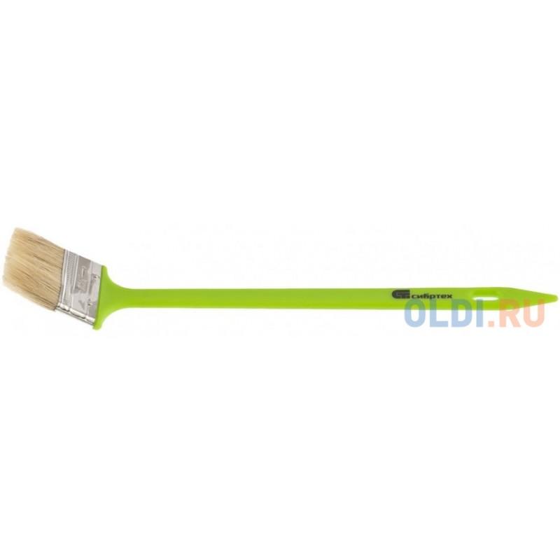 Кисть радиаторная 63 мм, натуральная щетина, пластиковая ручка// Сибртех