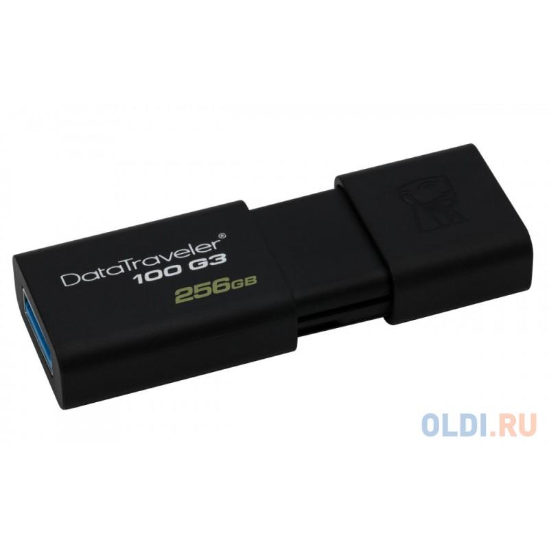 Внешний накопитель 256GB USB Drive <USB 3.0 Kingston Data Traveler 100 Gen.3 (DT100G3/256GB)