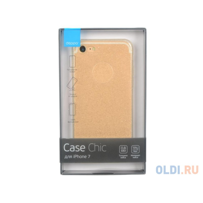 Чехол Deppa Chic Case для Apple iPhone 7, золотой, 85297
