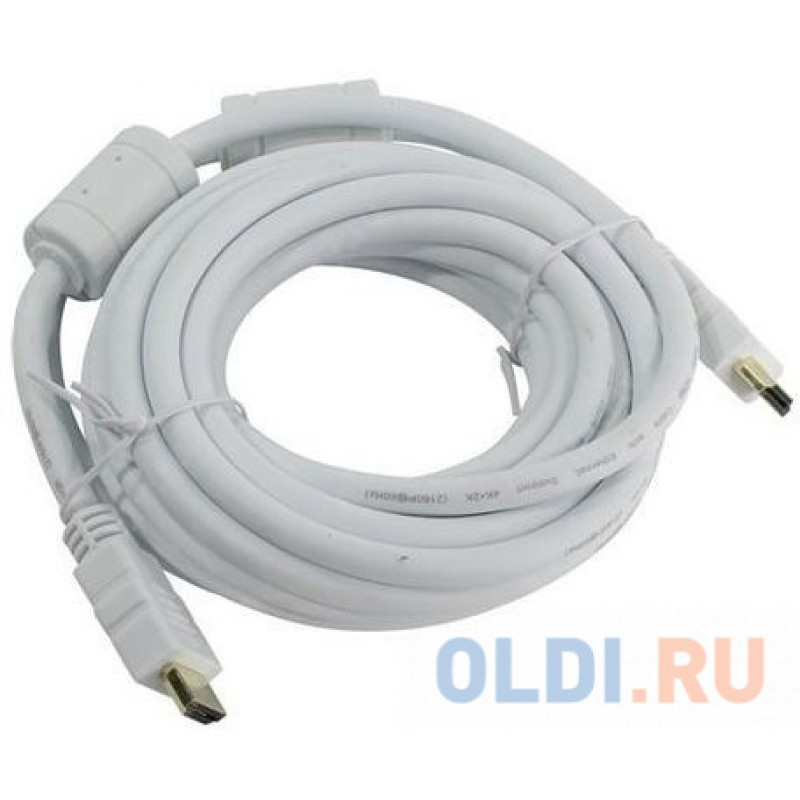 Кабель HDMI 1.8м AOpen ACG711DW-1.8M круглый белый