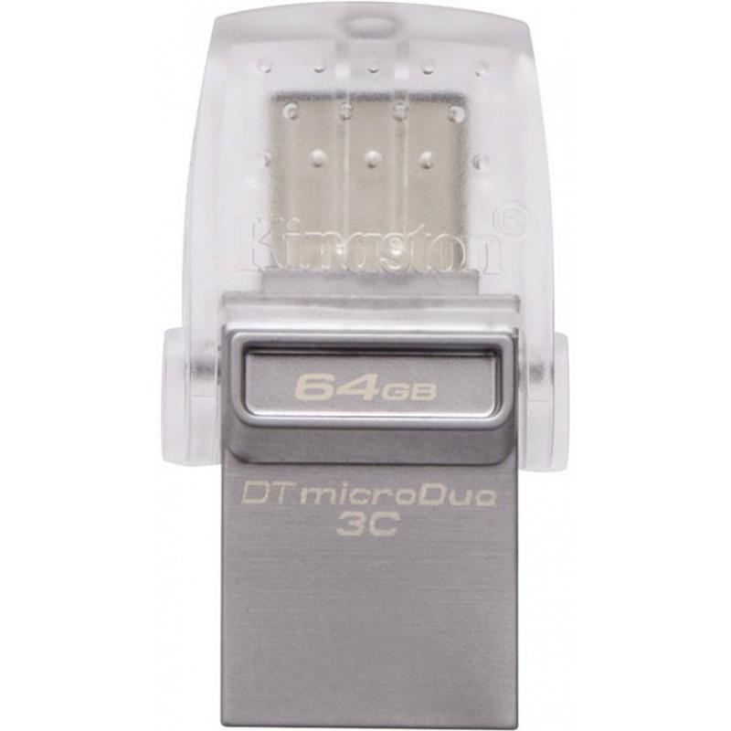 USB флешка Kingston DataTraveler DTDUO3C 64Gb Silver (DTDUO3C/64GB)