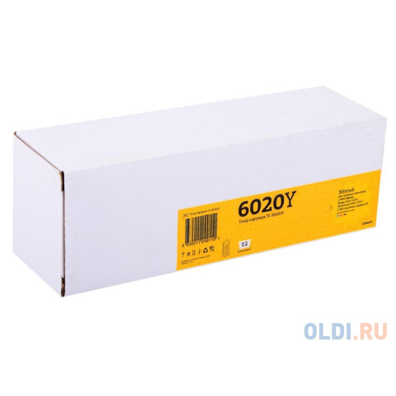 Картридж T2 TC-X6020Y 1000стр Желтый