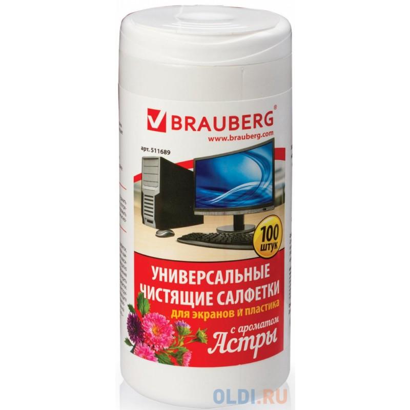 Чистящие салфетки BRAUBERG Астра 100 шт