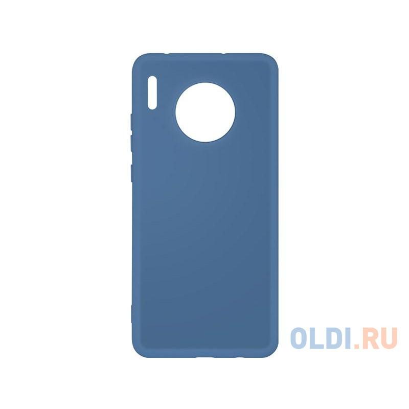 Силиконовый чехол с микрофиброй для Huawei Mate 30 DF hwOriginal-05 (blue)