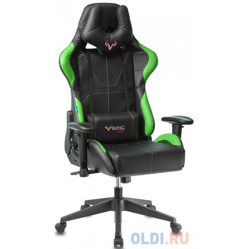 Кресло для геймеров Zombie VIKING 5 AERO чёрно-салатовый