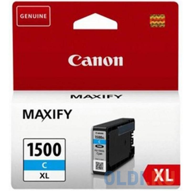 Картридж Canon PGI-1400XL C для MAXIFY МВ2040 и МВ2340. Голубой. 900 страниц.
