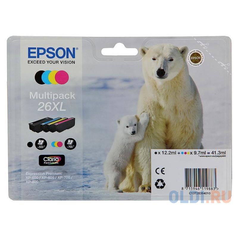 Набор картриджей Epson C13T26364010 MultiPack для XP-600 XP-700 XP-800 увеличенный