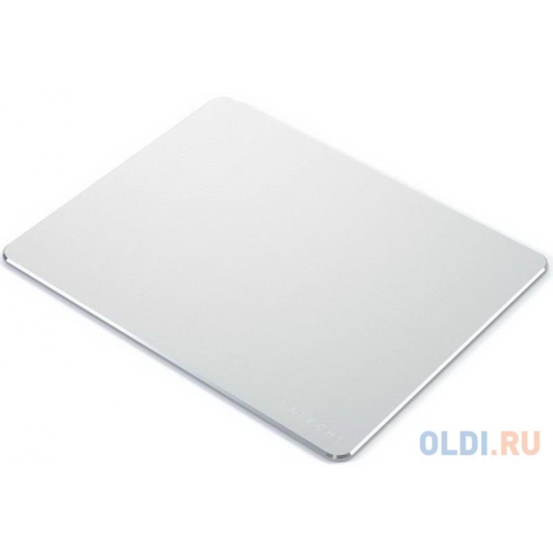 Коврик Satechi Aluminum Mouse Pad для компьютерной мыши. Материал алюминий. Размер 24x19x0,5 см. Цвет серебряный.