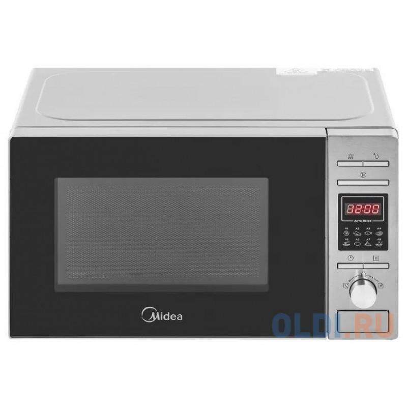 Микроволновая Печь Midea AG820CP2-S 20л. 800Вт черный/серебристый