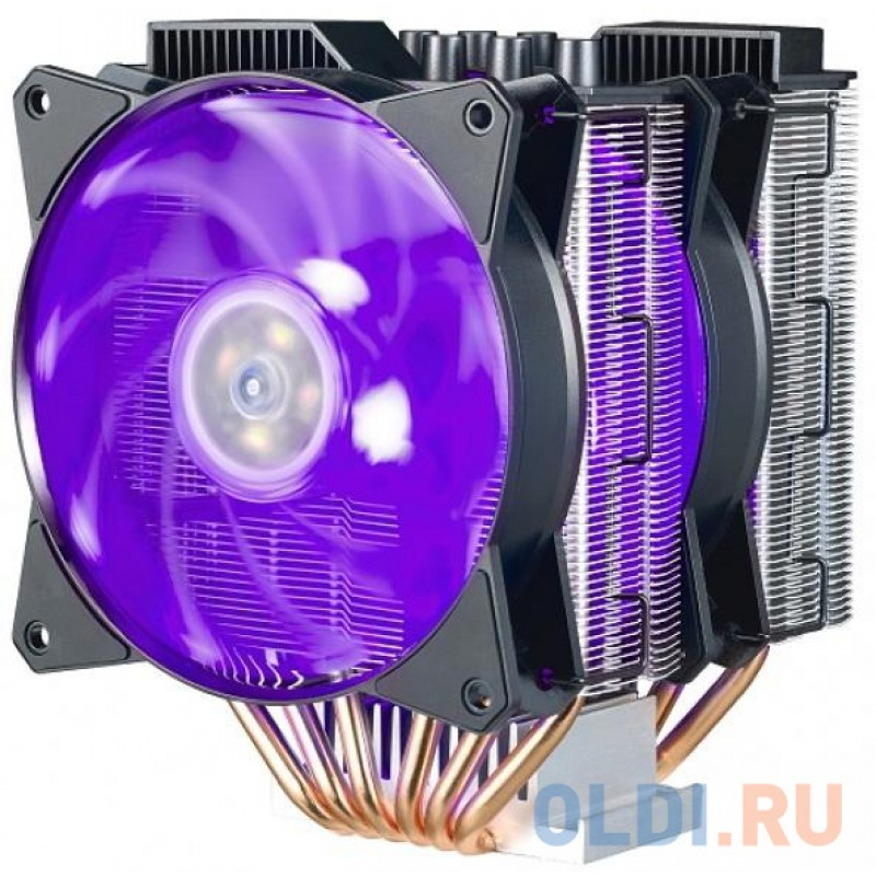 Cooler Master CPU Cooler MasterAir MA621P, 600-2400 RPM, 200W, RGB LED fan, RGB lighting controller, Full Socket + TR4 Support