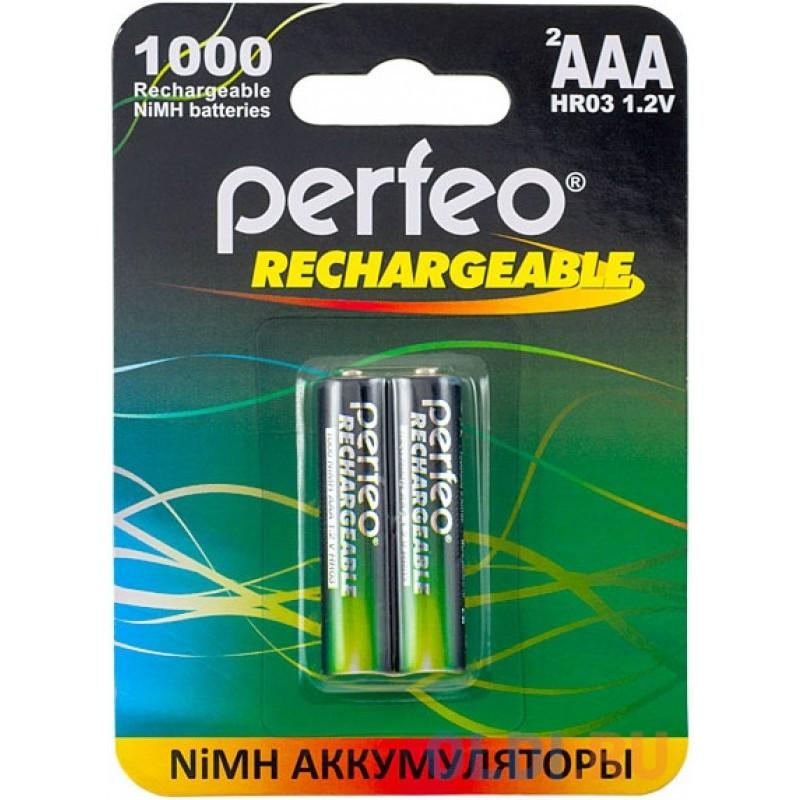 Аккумуляторы 1000 мАч Perfeo AAA1000/2BL AAA 2 шт