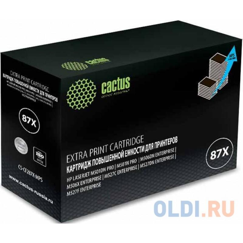 Тонер Картридж Cactus CS-CF287X-MPS черный (24000стр.) для HP LJ M506dn/M506n/M506x