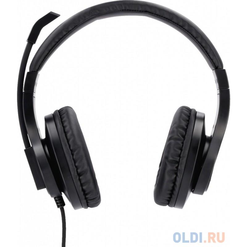 Наушники с микрофоном Hama HS-P300 черный 2м накладные оголовье (00139925)