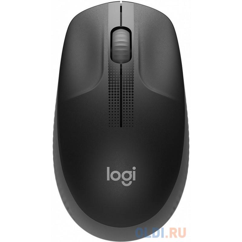 Мышь беспроводная Logitech M190 чёрный USB + радиоканал