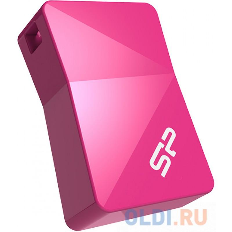 Внешний накопитель 16GB USB Drive <USB 2.0 Silicon Power Touch T08 SP016GBUF2T08V1H розовый